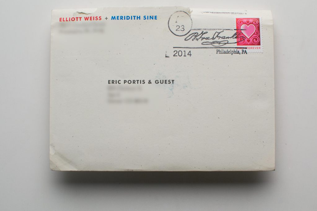 The fancily-postmarked envelope.